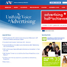 Web site for American Advertising Federation