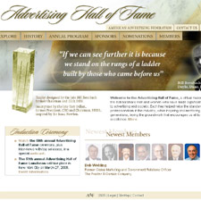 Advertising Hall of Fame Web site for AAF