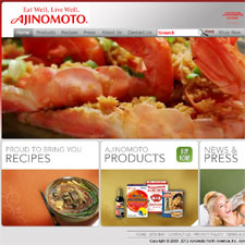 Web sites for Ajinomoto Group in the USA