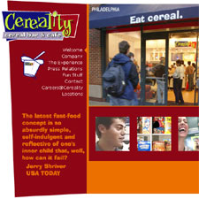 Kiosks for Cereality chain of Cereal Bar and Cafe