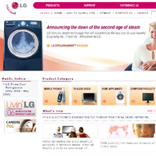 Web site and custom CMS for LG USA